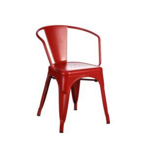 Silla rojo metal Dallas Industrial