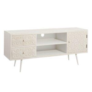 Mueble TV 2 cajones y 2 puertas blanco LIS