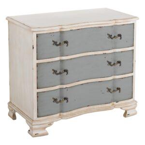 Mueble recibidor 3 cajones blanca gris