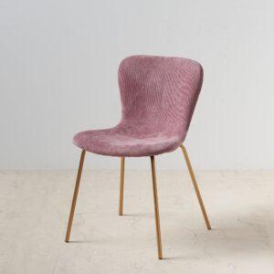 Silla rosa tejido metal