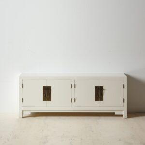 Mueble Auxiliar dos puertas blanco oriental