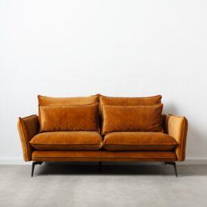 Sofa 2 plazas ocre