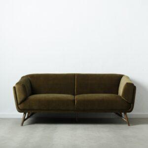 Sofa 2 plazas verde musgo