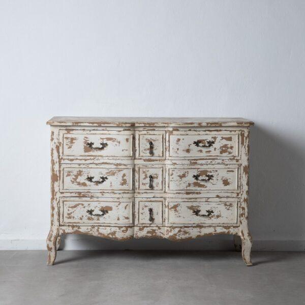 Mueble recibidor blanco rozado