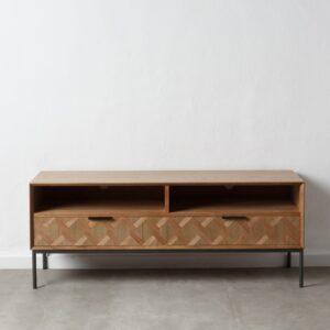 Mueble TV natural madera metal