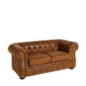 Sofá chester marrón poliester decoración