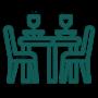 mesa y sillas verdes houseandthings