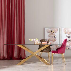 mesa pata dorada